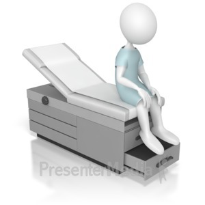 ID# 5175 - Sitting On an Examination Table - Presentation Clipart