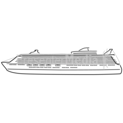 Cruise Ship Outline Drawing Presentation Clipart Great Clipart - Animated cruise ship