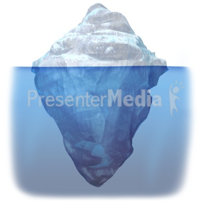 Iceberg Submerged PowerPoint Clip Art