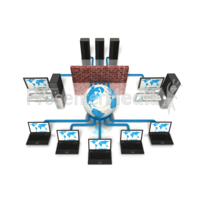Network Firewall Protection Computer Presentation clipart