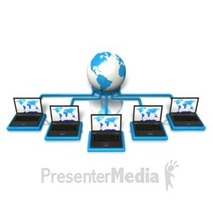 ID# 5256 - Laptops World Connection - Presentation Clipart
