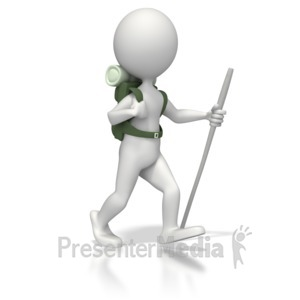 ID# 5257 - Backpacker Figure - Presentation Clipart