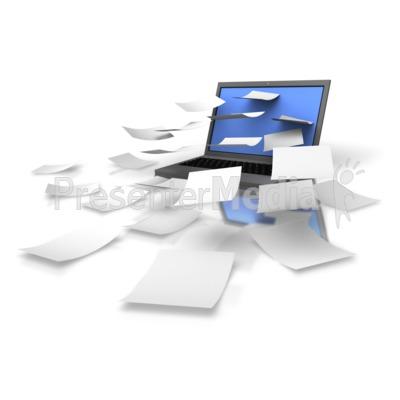 Laptop Download Info PowerPoint Clip Art