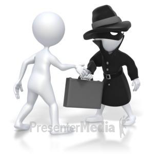 ID# 5264 - Spy Briefcase Swap - Presentation Clipart