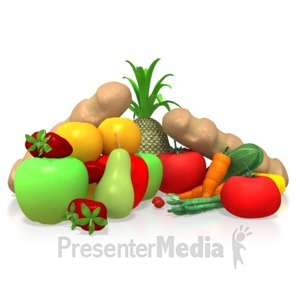 ID# 5282 - Healthy Food - Presentation Clipart