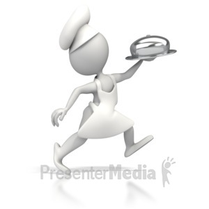 ID# 5289 - Chef Running Delivery - Presentation Clipart