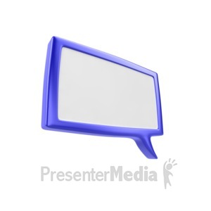 ID# 5293 - Square Discussion Box - Presentation Clipart