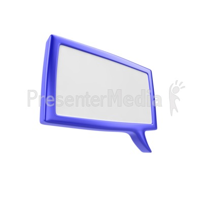 Square Discussion Box PowerPoint Clip Art