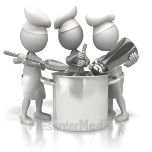 ID# 5294 - Too Many Cooks - Presentation Clipart