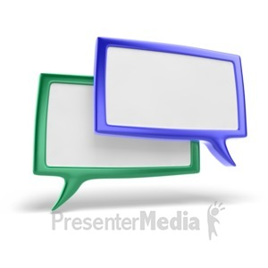 ID# 5295 - Discussion Icon - Presentation Clipart