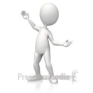 ID# 5304 - Casual Pose Present - Presentation Clipart