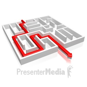 ID# 5306 - Maze With Arrow Leading The Way - Presentation Clipart