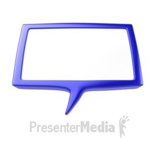 ID# 5319 - Speech Bubble - Presentation Clipart