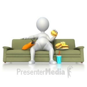 ID# 5334 - Stick Figure with Poor Nutrition  - Presentation Clipart