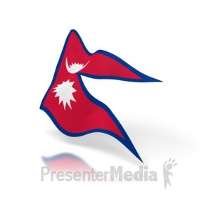 ID# 5336 - Nepal Flag - Presentation Clipart