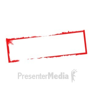 ID# 5344 - Blank Stamp Narrow - Presentation Clipart