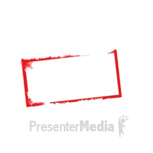 ID# 5351 - Blank Stamp Outline Wide - Presentation Clipart