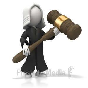 ID# 5357 - Judge With Robe - Presentation Clipart
