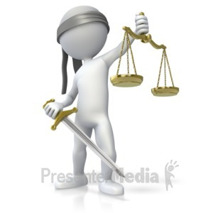 ID# 5361 - Blind Justice - Presentation Clipart