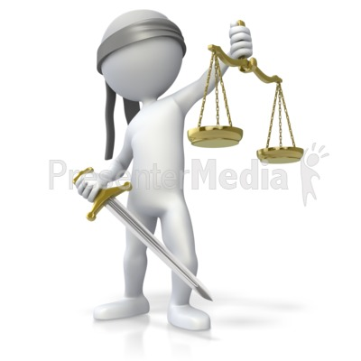 Blind Justice PowerPoint Clip Art