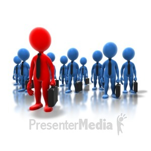 ID# 5372 - Business Professionals Standout - Presentation Clipart
