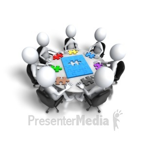 ID# 5378 - Group Meeting Puzzle Final Step - Presentation Clipart