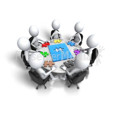 Group Meeting Puzzle Final Step PowerPoint Clip Art