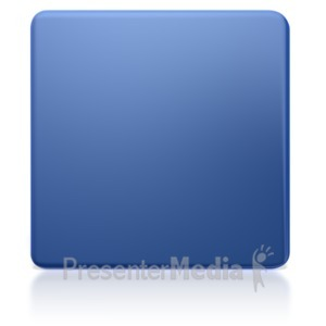 ID# 5379 - Shiny Square Icon  - Presentation Clipart
