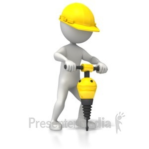 ID# 5387 - Construction Jackhammer - Presentation Clipart