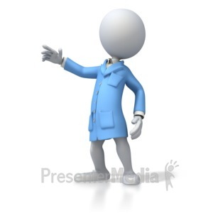ID# 5389 - ESD Lab Coat Figure - Presentation Clipart