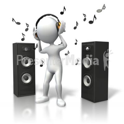 audio speakers clipart. id# 5392 - music vibe headphones speakers presentation clipart audio