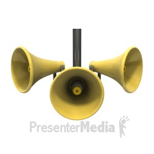 ID# 5396 - Three Loud Speakers - Presentation Clipart