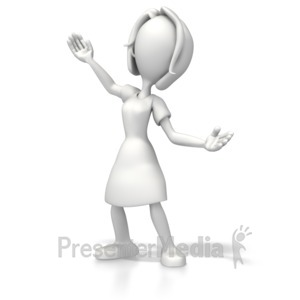 ID# 5397 - Woman Presenter - Presentation Clipart