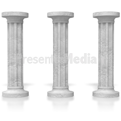 Three pillars signs and symbols great clipart for three pillars powerpoint clip art toneelgroepblik Images