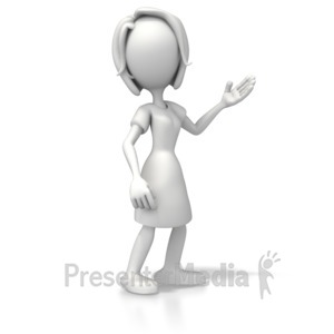 ID# 5399 - Woman Casual Pose 2 - Presentation Clipart