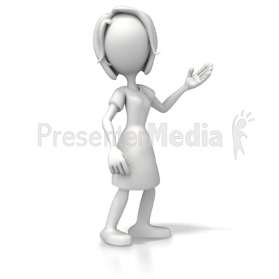 Woman Casual Pose 2 PowerPoint Clip Art