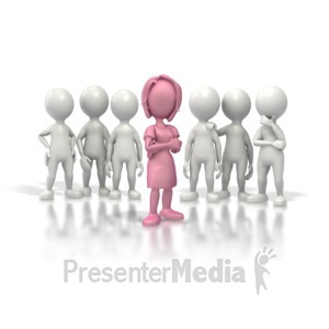 ID# 5401 - Woman Leader - Presentation Clipart