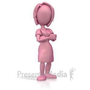 ID# 5402 - Woman Standing Proud - Presentation Clipart