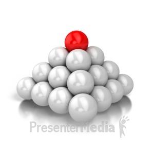 ID# 5406 - Simple Pyramid - Presentation Clipart