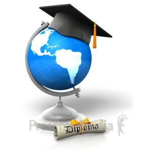 ID# 5409 - Global Degree Educated - Presentation Clipart