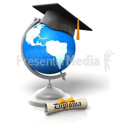 Global Degree Educated PowerPoint Clip Art