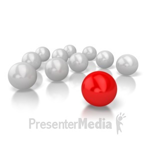 ID# 5410 - Ball Stand Out - Presentation Clipart