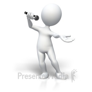 ID# 5420 - Singing To The Top - Presentation Clipart