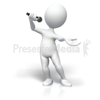 Singing To The Top PowerPoint Clip Art