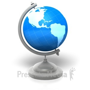 ID# 5421 - World Globe Stand - Presentation Clipart