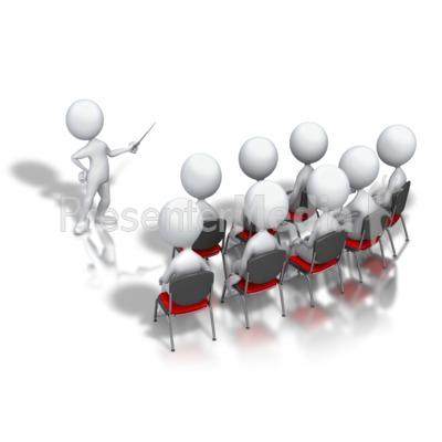 Stick Figure Presenter Display PowerPoint Clip Art