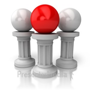 ID# 5427 - Balls On Pillars - Presentation Clipart