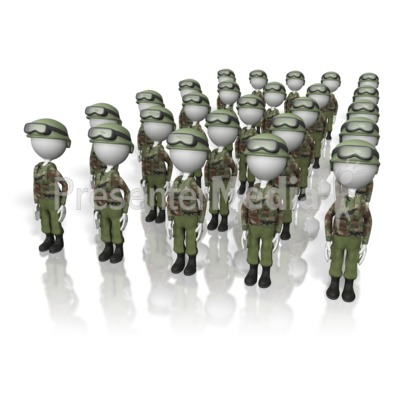 Presenter media powerpoint templates 3d animations and clipart id 5433 stick figure army presentation clipart toneelgroepblik Images