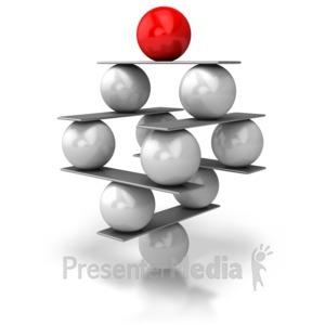 ID# 5458 - Balance Balls - Presentation Clipart