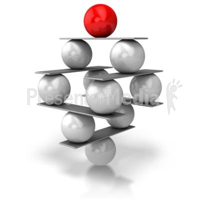 Balance Balls PowerPoint Clip Art